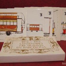 Postales: 56 POSTALES CENTENARIO DEL TRANVIA DE BARCELONA 1872-1972. Lote 58218146