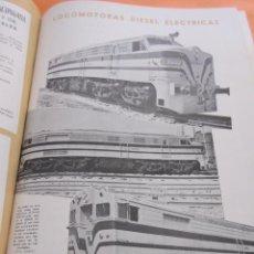 Postales: PUBLICIDAD 1955 - COLECCION TRENES - LOCOMOTORAS ELECTRICAS DIESEL - RENFE FERROCARRIL TREN. Lote 58267454