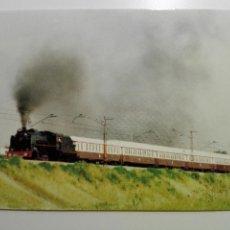 Cartes Postales: EUROFER- 150 AÑOS FFCC EN ESPAÑA- Nº 5 LOCOMOTORA 141 F 2111 ARRASTRANDO TREN AL ANDALUS EXPRESS. Lote 58271199