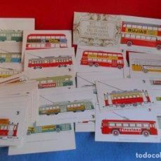 Postales: SERIE 56 POSTALES CELEBRANDO CENTENARIO TRANVIA BARCELONA,DIFERENTES,SIN CIRCULAR. Lote 61490575