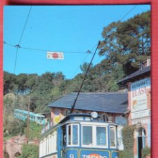 Postais: TRANVIA BLAU Y FUNICULAR TIBIDABO - BARCELONA - EDICIONS FERROVIARIES 37. Lote 67138045
