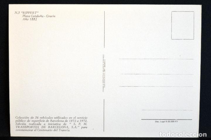 Postales: COLECCIÓN LOTE 56 POSTALES CENTENARIO DEL TRANVÍA VEHÍCULOS TRANSPORTES DE BARCELONA - Foto 7 - 73005487
