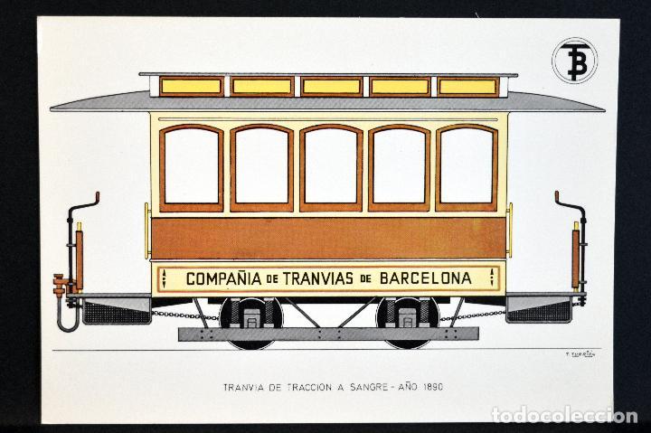 Postales: COLECCIÓN LOTE 56 POSTALES CENTENARIO DEL TRANVÍA VEHÍCULOS TRANSPORTES DE BARCELONA - Foto 8 - 73005487