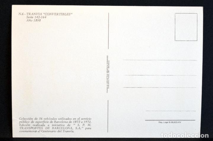 Postales: COLECCIÓN LOTE 56 POSTALES CENTENARIO DEL TRANVÍA VEHÍCULOS TRANSPORTES DE BARCELONA - Foto 13 - 73005487