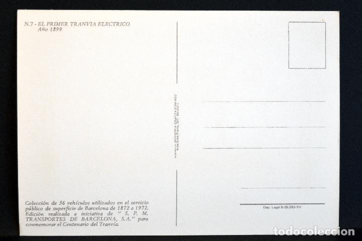 Postales: COLECCIÓN LOTE 56 POSTALES CENTENARIO DEL TRANVÍA VEHÍCULOS TRANSPORTES DE BARCELONA - Foto 15 - 73005487