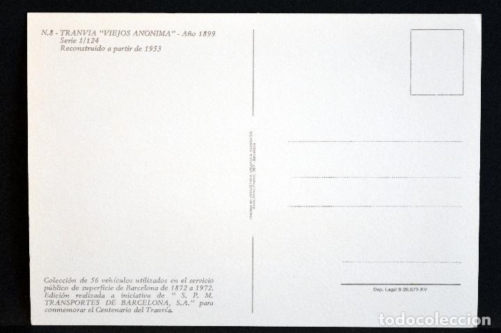 Postales: COLECCIÓN LOTE 56 POSTALES CENTENARIO DEL TRANVÍA VEHÍCULOS TRANSPORTES DE BARCELONA - Foto 17 - 73005487