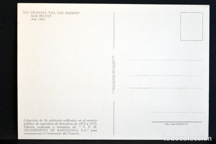Postales: COLECCIÓN LOTE 56 POSTALES CENTENARIO DEL TRANVÍA VEHÍCULOS TRANSPORTES DE BARCELONA - Foto 19 - 73005487