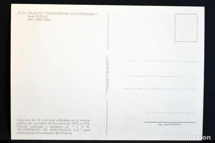 Postales: COLECCIÓN LOTE 56 POSTALES CENTENARIO DEL TRANVÍA VEHÍCULOS TRANSPORTES DE BARCELONA - Foto 27 - 73005487