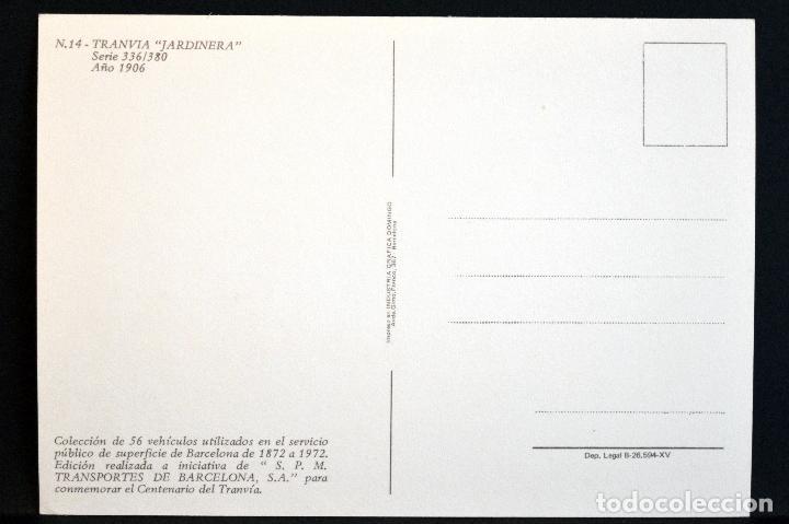 Postales: COLECCIÓN LOTE 56 POSTALES CENTENARIO DEL TRANVÍA VEHÍCULOS TRANSPORTES DE BARCELONA - Foto 29 - 73005487