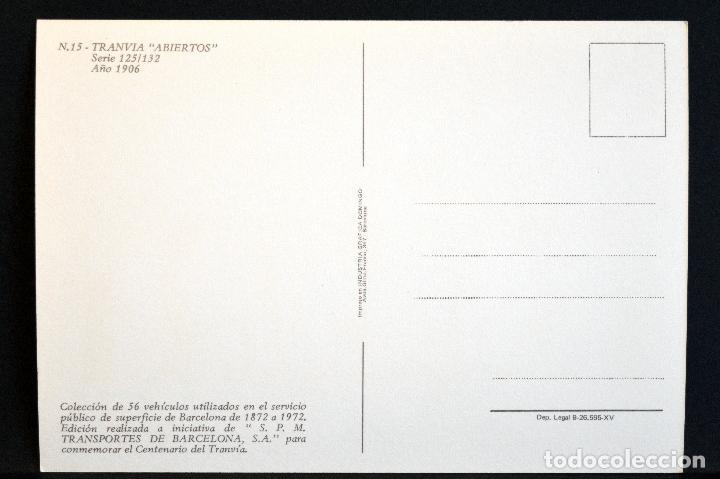 Postales: COLECCIÓN LOTE 56 POSTALES CENTENARIO DEL TRANVÍA VEHÍCULOS TRANSPORTES DE BARCELONA - Foto 31 - 73005487