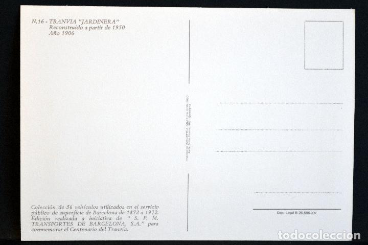 Postales: COLECCIÓN LOTE 56 POSTALES CENTENARIO DEL TRANVÍA VEHÍCULOS TRANSPORTES DE BARCELONA - Foto 33 - 73005487