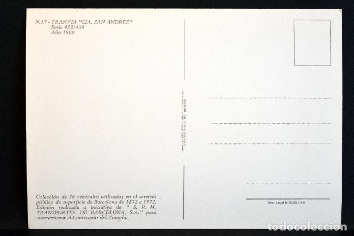 Postales: COLECCIÓN LOTE 56 POSTALES CENTENARIO DEL TRANVÍA VEHÍCULOS TRANSPORTES DE BARCELONA - Foto 35 - 73005487