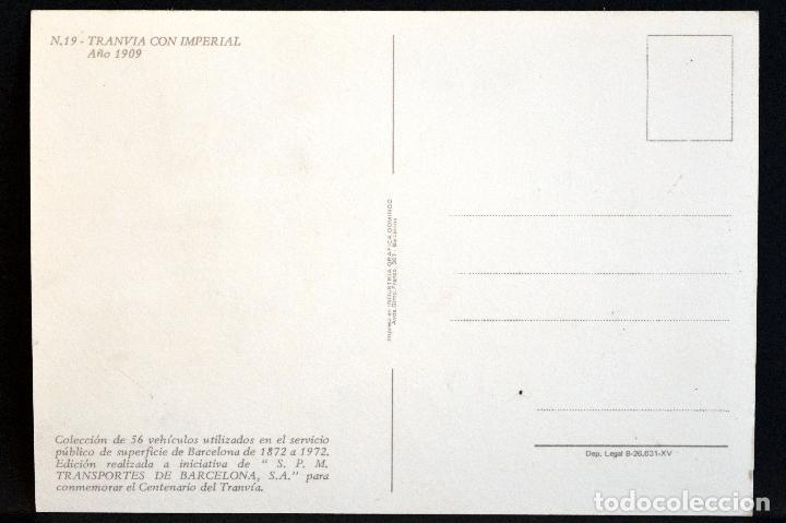Postales: COLECCIÓN LOTE 56 POSTALES CENTENARIO DEL TRANVÍA VEHÍCULOS TRANSPORTES DE BARCELONA - Foto 39 - 73005487