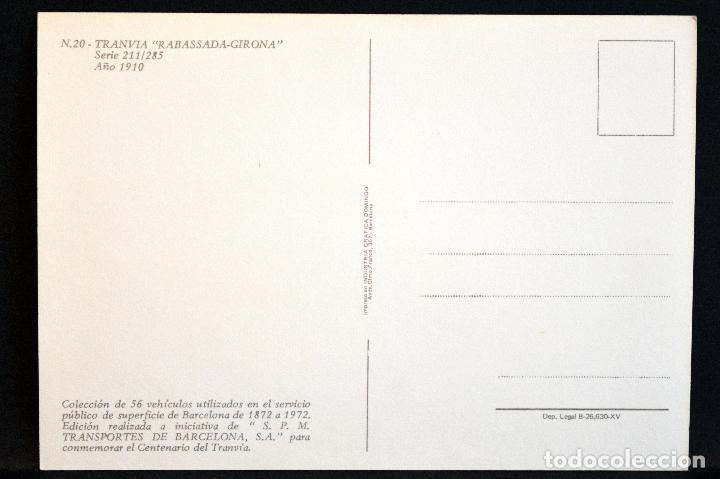 Postales: COLECCIÓN LOTE 56 POSTALES CENTENARIO DEL TRANVÍA VEHÍCULOS TRANSPORTES DE BARCELONA - Foto 41 - 73005487
