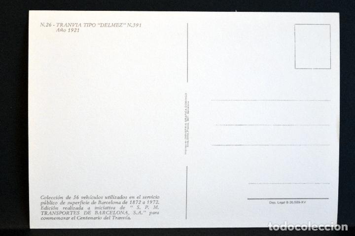 Postales: COLECCIÓN LOTE 56 POSTALES CENTENARIO DEL TRANVÍA VEHÍCULOS TRANSPORTES DE BARCELONA - Foto 53 - 73005487