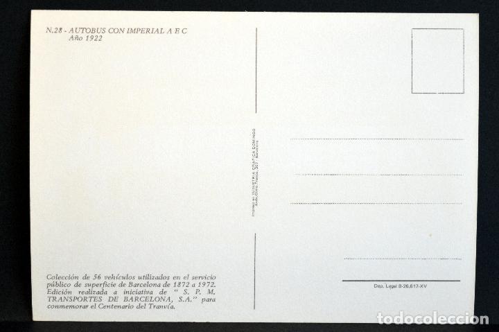 Postales: COLECCIÓN LOTE 56 POSTALES CENTENARIO DEL TRANVÍA VEHÍCULOS TRANSPORTES DE BARCELONA - Foto 57 - 73005487
