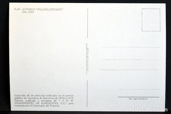 Postales: COLECCIÓN LOTE 56 POSTALES CENTENARIO DEL TRANVÍA VEHÍCULOS TRANSPORTES DE BARCELONA - Foto 59 - 73005487
