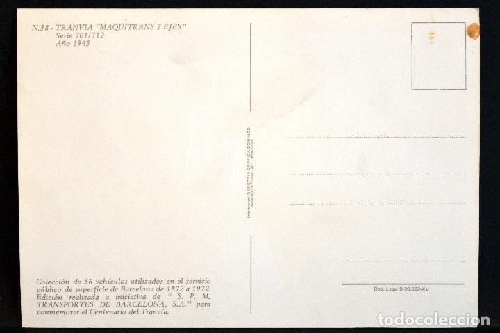 Postales: COLECCIÓN LOTE 56 POSTALES CENTENARIO DEL TRANVÍA VEHÍCULOS TRANSPORTES DE BARCELONA - Foto 77 - 73005487