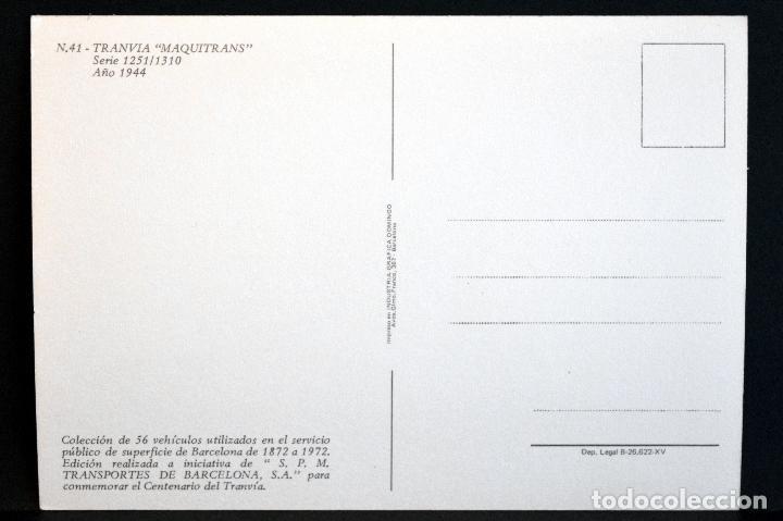 Postales: COLECCIÓN LOTE 56 POSTALES CENTENARIO DEL TRANVÍA VEHÍCULOS TRANSPORTES DE BARCELONA - Foto 83 - 73005487
