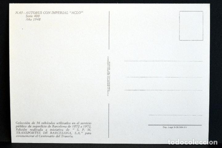 Postales: COLECCIÓN LOTE 56 POSTALES CENTENARIO DEL TRANVÍA VEHÍCULOS TRANSPORTES DE BARCELONA - Foto 87 - 73005487