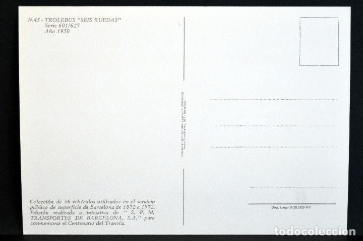 Postales: COLECCIÓN LOTE 56 POSTALES CENTENARIO DEL TRANVÍA VEHÍCULOS TRANSPORTES DE BARCELONA - Foto 91 - 73005487
