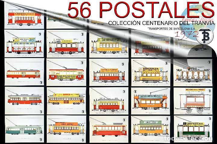 Postales: COLECCIÓN LOTE 56 POSTALES CENTENARIO DEL TRANVÍA VEHÍCULOS TRANSPORTES DE BARCELONA - Foto 114 - 73005487