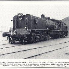 Postales: AT4. FOTO POSTAL LOCOMOTORA RENFE 1961.BABCOCK & WILCOX. Lote 75212011