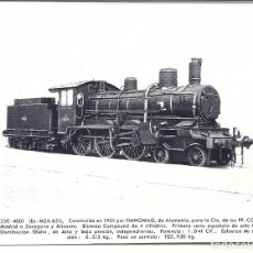 Postales: AT6. FOTO POSTAL LOCOMOTORA RENFE EX MZA 651. Lote 75212363