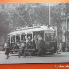 Postales: TRANVIA DE BARCELONA COCHE 126 PLAZA CATALUÑA 1949 - NO CIRC. EUROFER. Lote 75248163