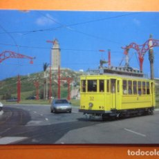 Postales: TRANVIA DE LA CORUÑA COCHE 32 GLORIETA DE NAVARRA TORRE HERCULES 1997. Lote 75785891