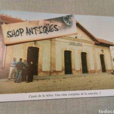 Postales: POSTAL CASSA DE LA SELVA. UNA VISTA COMPLETA DE LA ESTACION 1. Lote 75820895