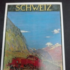 Postales: DOBLE POSTAL FERROCARRILES SUIZA. Lote 78890193