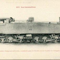 Postales: LOCOMOTORA-TENDER-CAMINOS DE HIERRO DE ESPAÑA-. Lote 79565729