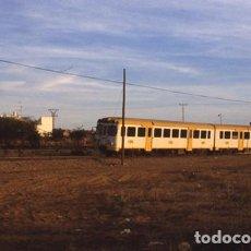 Postales: DIAPOSITIVA FEVE MURCIA AUTOMOTOR MAN 2331 1998 COLOURSLIDE 35MM SPAIN PHOTO FOTO TREN CARTAGENA. Lote 82549676