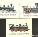 Postales: 36 LOCOMOTORAS HISTORICAS. Lote 87057140