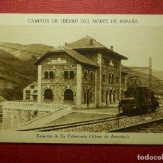 Postales: POSTAL - CAMINOS DE HIERRO DEL NORTE DE ESPAÑA, ESTACIÓN LA COBERTORIA - HUECOGRABADO MUNBRÚ - NE-NC. Lote 87194044