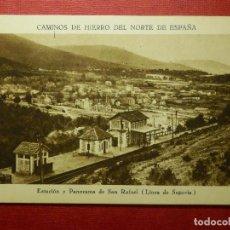 Postales: POSTAL - CAMINOS DE HIERRO DEL NORTE DE ESPAÑA, ESTACIÓN SAN RAFAEL - HUECOGRABADO MUNBRÚ - NE-NC. Lote 87194068