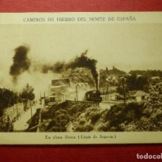 Postales: POSTAL - CAMINOS DE HIERRO DEL NORTE DE ESPAÑA - EN PLENA SIERRA - HUECOGRABADO MUNBRÚ - NE-NC. Lote 87194108