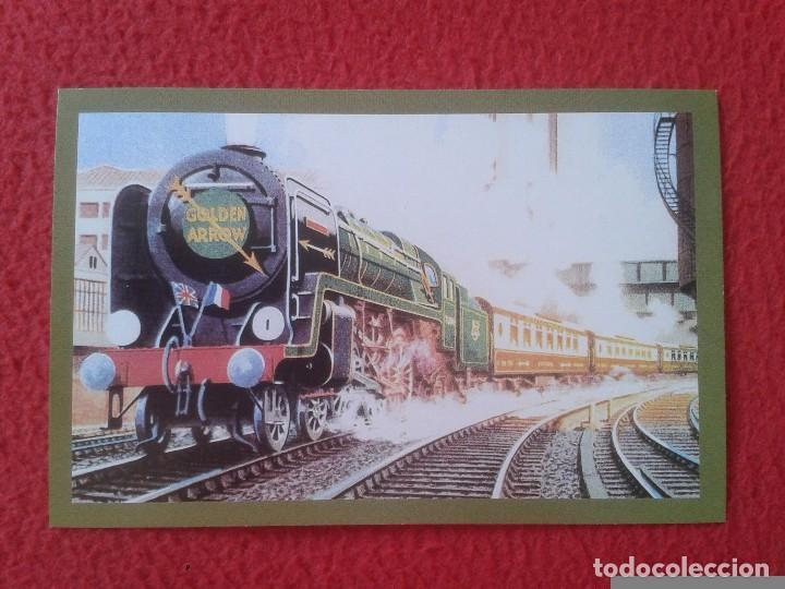POSTAL POST CARD THE NOSTALGIA POSTCARD VINTAGE THE GOLDEN ARROW TRAIN TREN VICTORIA STATION LONDON (Postales - Postales Temáticas - Trenes y Tranvías)