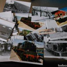 Postales: LOTE DE 62 POSTALES TRENES ESTACIÓN TREN GIRONA GERONA MORENTE. Lote 89092968