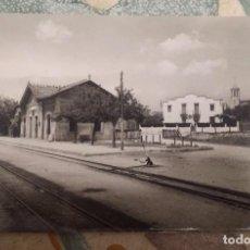 Postales: ESTACION DEL FERROCARRIL DE CASSA DE LA SELVA SIN CIRCULAR. EN BUEN ESTADO. Lote 94082650