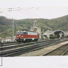 Cartes Postales: POSTAL DE TREN - Nº 10 - 125 ANIVERSARIO - LOCOMOTORA ALSTOM 7630, ESTACIÓN PORT-BOU, 1978 - EUROFER. Lote 98535702