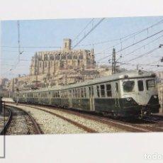 Postales: POSTAL DE TREN - Nº 2 - UNIDADES ELÉCTRICAS 2º- SERIE 600 - MANRESA 1980 - EUROFER. Lote 142835390