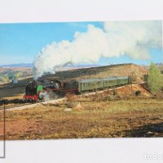 Postales: POSTAL DE TREN - Nº 83 - LOCOMOTORA 141-F-2111 SERIE 2101/2124 - SORIA AÑO 1984 - EUROFER. Lote 160074700