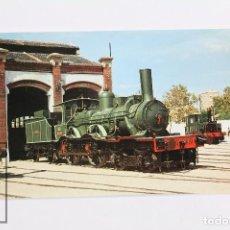 Postales: POSTAL DE TREN -Nº 95 - LOCOMOTORA 220-2005- VILANOVA I LA GELTRÚ 1972 - EUROFER. Lote 95199499