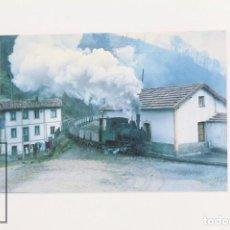 Postales: POSTAL - Nº 251 - CARBONES DE LA NUEVA LOCOMOTORA VAPOR T Nº 4 - CIAÑO, ASTURIAS 1974 - EUROFER. Lote 95809851