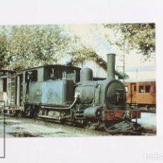 Postales: POSTAL - Nº 255 - FF.CC DE MALLORCA LOCOMOTORA 0-3-0 T FELANITX - PALMA DE MALLORCA 1957- EUROFER. Lote 95810719
