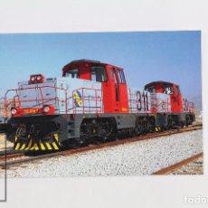 Postales: POSTAL DE TREN - Nº 257 - LOCOMOTORA DIESEL 311-106-9- SAN ANDRÉS CONDAL-BARCELONA 1990 - EUROFER. Lote 95811463