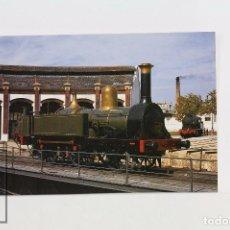 Postales: POSTAL - Nº 261 - LOCOMOTORA DE VAPOR 120 EX MZA 168- VILANOVA Y LA GELTRÚ 1972 - EUROFER. Lote 95812111
