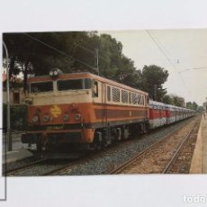 Postales: POSTAL DE TREN -Nº 265- TREN TALGO PORTBOU-CARTAGENA - SALOU 1990 - EUROFER. Lote 95812567